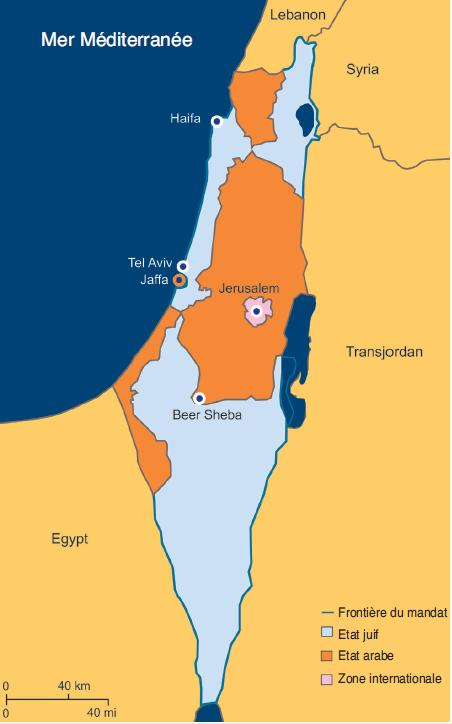 """Résultat de recherche d'images pour """"plan de partage de la palestine 1947"""""""