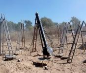 rampes de lancement de roquettes dans la bande de Gaza
