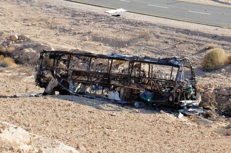 L'autobus attaqué par des terroristes près d'Eilat