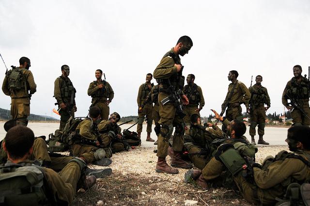 Brigada paracaidista del Tsahal.Entenamiento de comandos(toda la ...