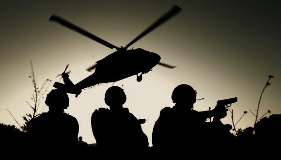 Des soldats du Shaldag, les forces spéciales de l'Armée de l'Air