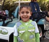 Un enfant palestinien au zoo de Rmat Gan en Israel