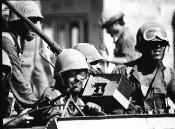 Tankistes israéliens pendant la Guerre du Kippour (1973)