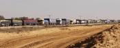 camions d'aide humanitaires entrant dans la bande de Gaza