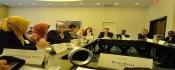 """Table de travail lors de la conférence """"La paix grâce à la santé"""""""