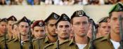 Soldats de Tsahal portant différents bérets