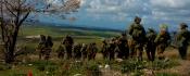 Des soldats de Tsahal sur le plateau du Golan