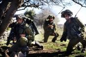 Les soldats de la Brigade Golani s'entraînent sur le plateau du Golan