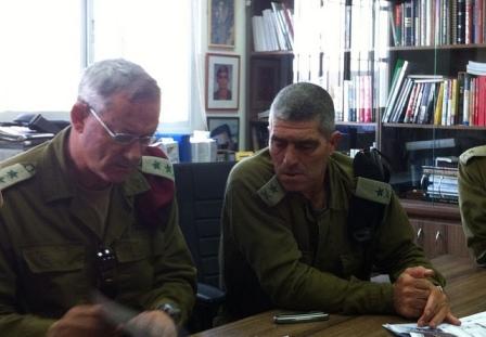 Benny Gantz et le Commandant de la région sud évaluent la situation