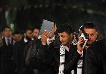 Mariage en plein air à Gaza. Source: Reuters/Suhaib Salem