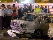 Dégât causé par une roquette dans le sud d'Israël