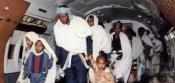 Des Juifs éthiopiens arrivent en Israël dans le cadre de l'Opération Salomon