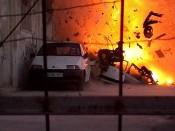 Bombe détonée par Tsahal près d'un point de passage