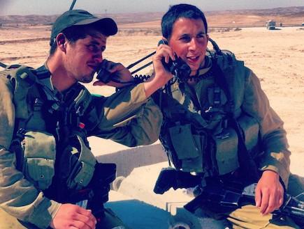 Deux amis, en formation pour devenir commandants d'infanterie