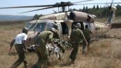 Évacuation des deux soldats blessés