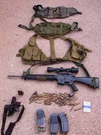 Archive : armement et munitions découverts à un point de passage entre Israël et la Judée-Samarie